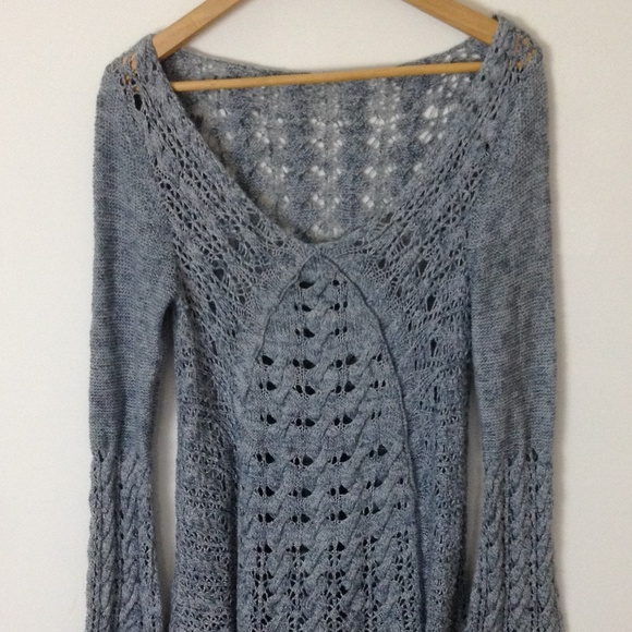 Free People Dresses & Skirts - Free People FP Women Grey Knit  Long Sleeve Dress